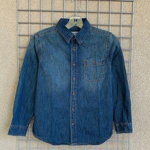 Unisex Classic Denim Collard Button Down Shirt